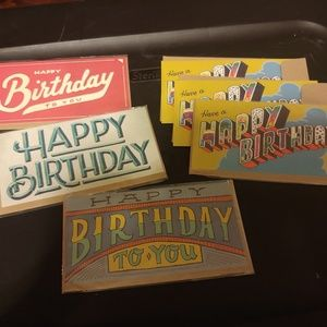 Other - Set of 6 Birthday Cards